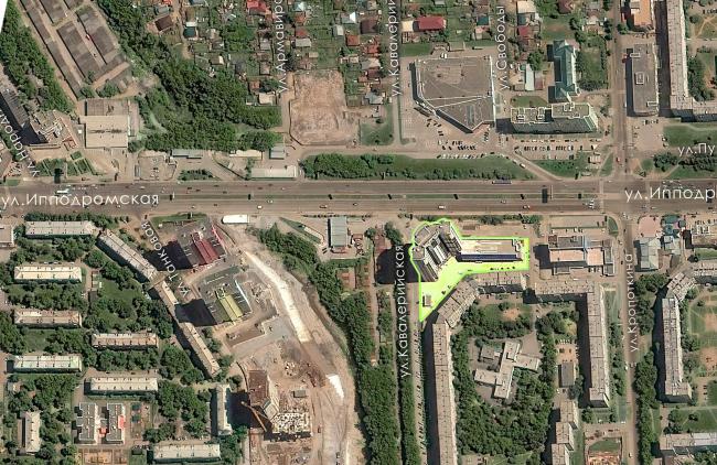 Жилой комплекс «Звёздный». Ситуационный план © Архитектурное Бюро Штурбабиных