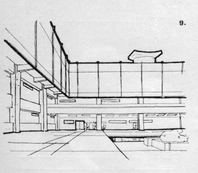"""Project of the courtyard // """"Building and Architecture of Moscow, 1965, N8, p. 20"""