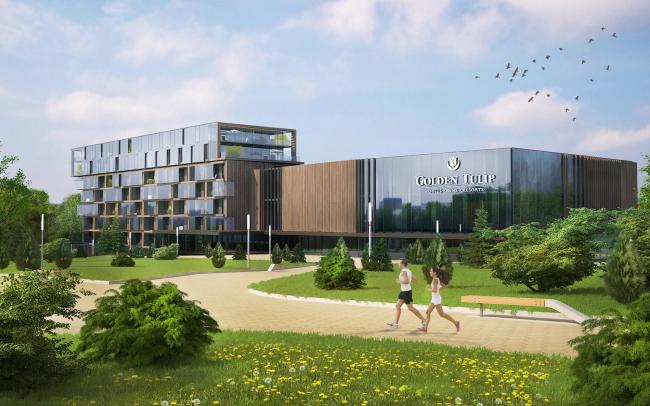 Реконструкция спортивно-оздоровительного комплекса с отелем Golden Tulip в Подмосковье © Arch Group