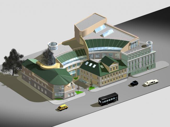 Реконструкция комплекса зданий Библиотеки-фонда «Русское Зарубежье» © Архитектурное бюро Асадова