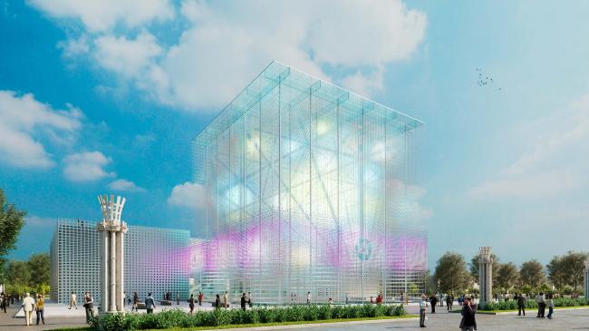 Концепция павильона атомной энергии на ВДНХ © Arch group