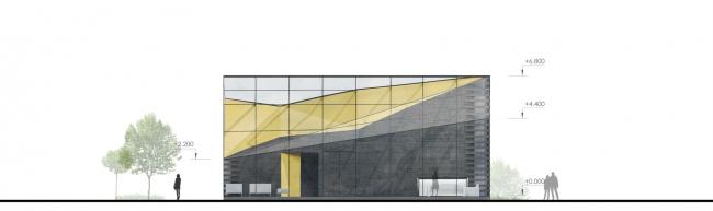 Концепция здания Гольф Академии и вспомогательных сооружений в составе гольф-клуба © Arch group
