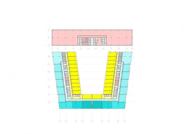 Многофункциональный комплекс на Краснопресненской набережной, ММДЦ «Москва-Сити». Проектная организация: АБ «Цимайло, Ляшенко и Партнеры», заказчик: «Флэйнер-Сити»