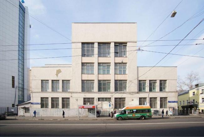 Реконструкция здания под гостиничный комплекс на Бакунинской улице. Существующее здание. Проектная организация: «Архитектурное бюро АИ», заказчик: «Бакунинская»