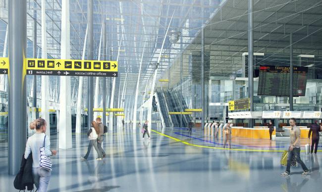 Концепция нового аэровокзального комплекса «Южный» в Ростовской области. Здание терминала © Arch group