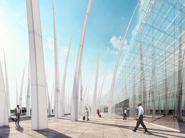 Концепция нового аэровокзального комплекса «Южный» в Ростовской области © Arch group