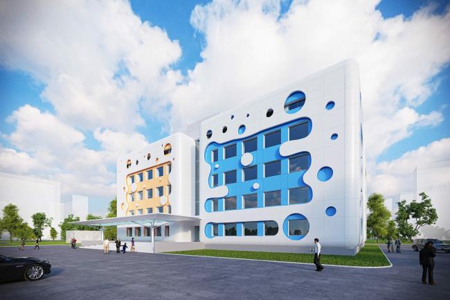Проект реконструкции типовой поликлиники в Новопеределкино. Вариант 2 © Arch group