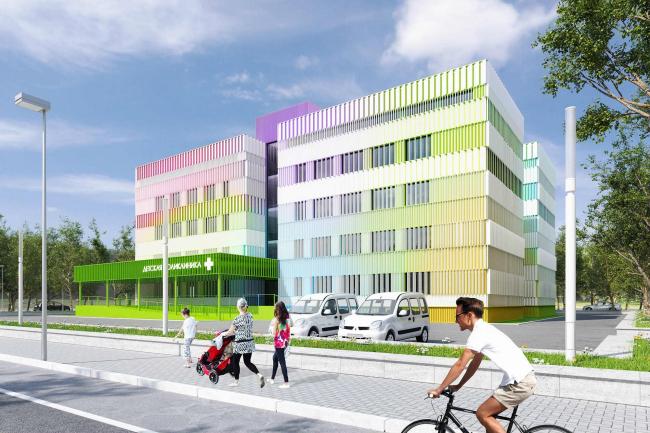 Проект реконструкции типовой поликлиники в Новопеределкино. Вариант 3 © Arch group