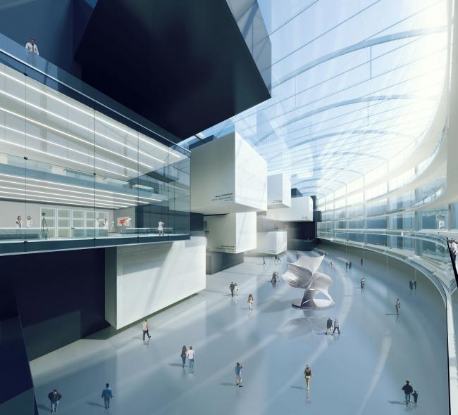 Музейно-выставочный комплекс ГЦСИ. Конкурсный проект © Arch group