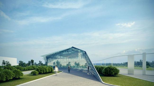 Архитектурная концепция здания центральной проходной сахарного завода Тамбовской области © Arch group