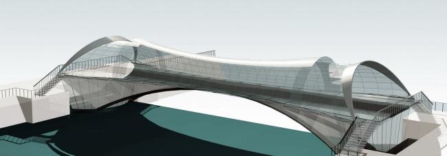 Кафе-мост, р. Яуза © Архитектурное бюро Асадова