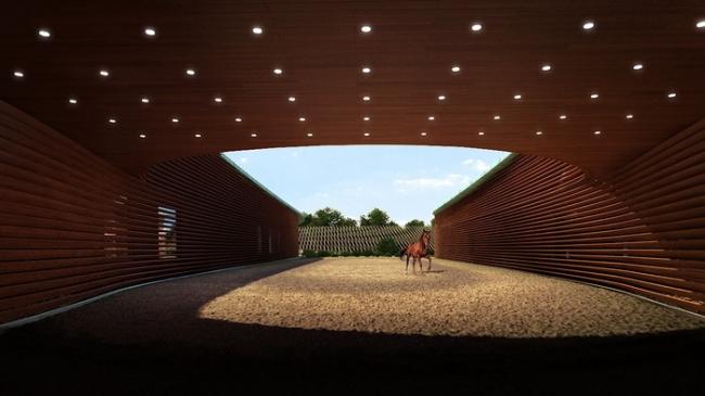 Проект конно-спортивного центра на Новорижском шоссе © Arch group