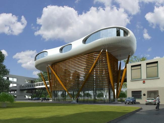 Проект здания диспетчерского центра в г. Аксу, Казахстан © Arch group