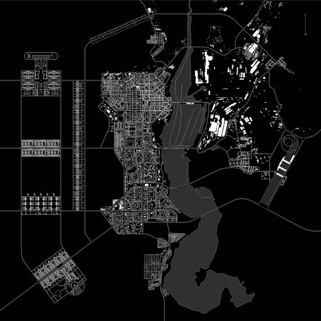 Реконструкция города Магнитогорск. Дипломный проект Михаила Князева. Генеральный план
