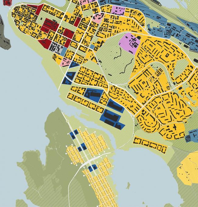 Реконструкция города Выборг. Дипломный проект Алены Климович. Функциональное зонирование
