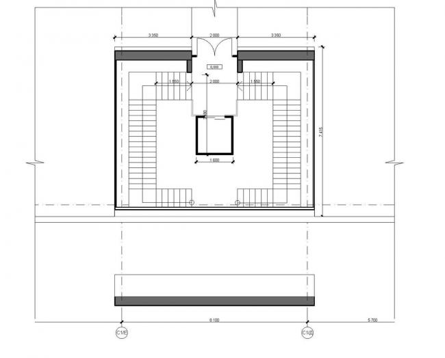 Концепция центральной входной группы жилого комплекса «Ньютон». Фрагмент плана с входной группой на отм. -0,000 © Arch group