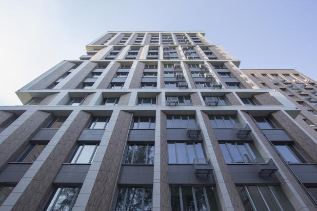 Жилой дом на Борисовской улице. Постройка, 2016 © Архитектурное бюро Асадова