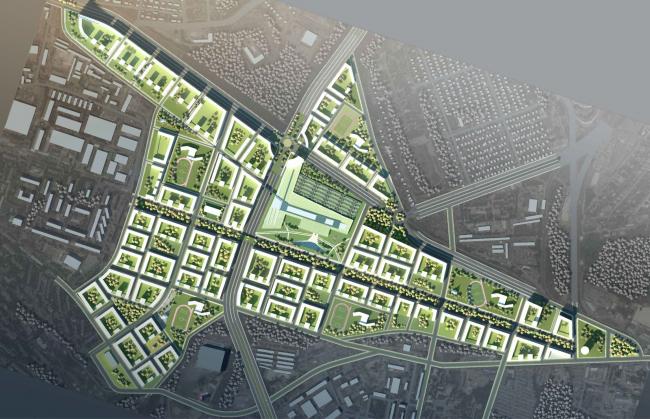 Развитие территории в Саратове. Генеральный план. Проект, 2016 © Архитектурное бюро Асадова