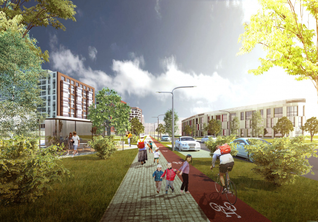 Развитие территории в Саратове. Проект, 2016 © Архитектурное бюро Асадова