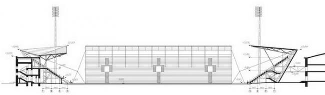 Стадион «Локомотив». Экспликация © Arch group