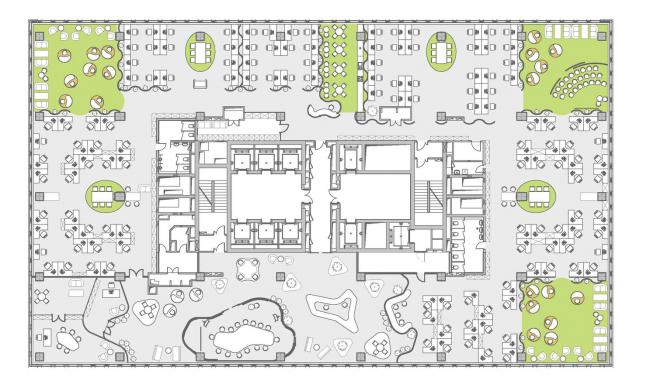 Концепция офисного пространства для компании Kimberly-Clark. Отдых и релаксация © Arch group