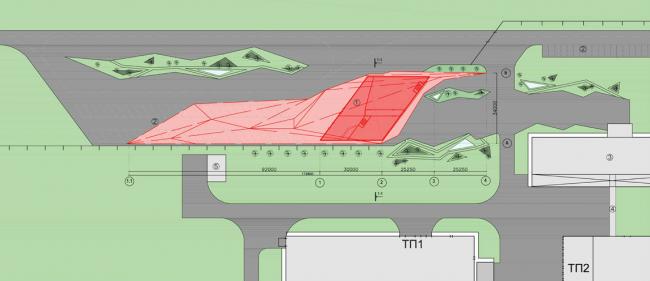 Архитектурная концепция здания центральной проходной сахарного завода Тамбовской области. Генплан © Arch group
