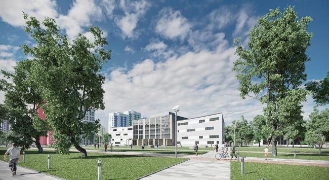 Концепция схемы планировки многоэтажной жилой застройки в Домодедово © Arch group