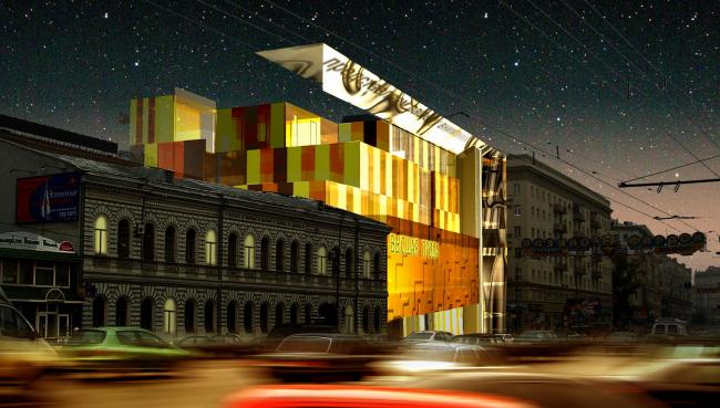 Развлекательный центр, ул. Земляной вал © Архитектурное бюро Асадова