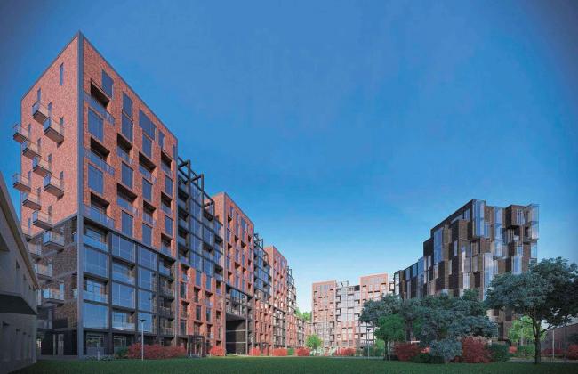 Архитектурная концепция жилого комплекса в Москве
