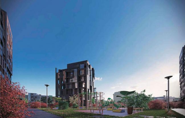 Архитектурная концепция жилого комплекса в Москве © Arch group
