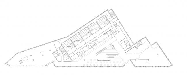 Многофункциональный комплекс на ул. Земляной Вал. План 3 этажа © Гинзбург Архитектс
