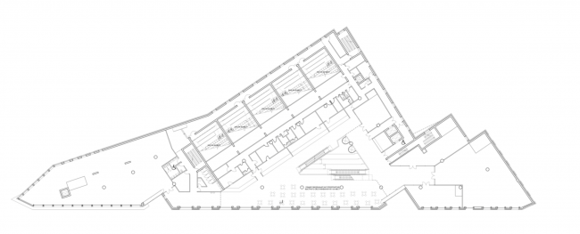 Multifunctional complex on the Zemlyanoy Val Street. Plan of the 3rd floor © Ginsburg Architects