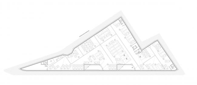 Многофункциональный комплекс на ул. Земляной Вал. План -2 этажа © Гинзбург Архитектс