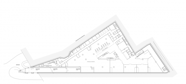 Multifunctional complex on the Zemlyanoy Val Street. Plan of the -1st floor © Ginsburg Architects