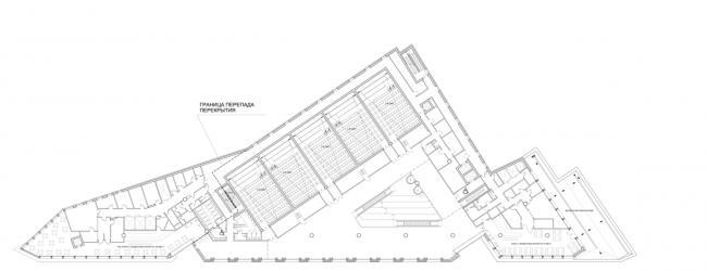 Многофункциональный комплекс на ул. Земляной Вал. План 4 этажа © Гинзбург Архитектс