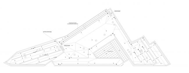 Многофункциональный комплекс на ул. Земляной Вал. План кровли © Гинзбург Архитектс