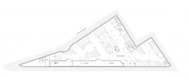 Многофункциональный комплекс на ул. Земляной Вал. План -3 этажа © Гинзбург Архитектс