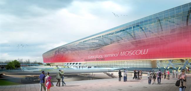 Евровокзал и башни РЖД в Москве. Дипломная работа Полины Корочковой, бакалавриат. Москва, 2016