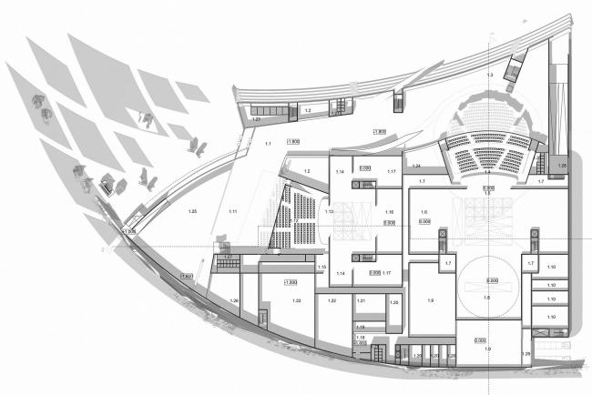 Музыкальный театр «Балтийский форум» © Архитектурное бюро Асадова