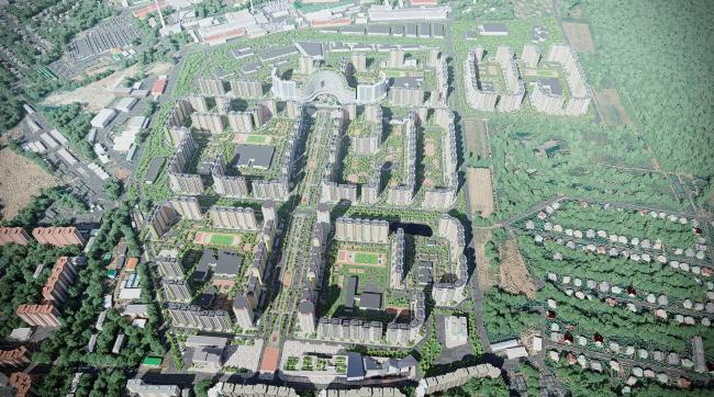 Концепция проекта планировки территории объекта «Микрорайон «ЦЕНТР-2» © Arch group