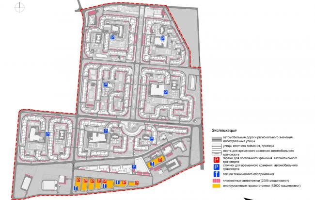 Концепция проекта планировки территории объекта «Микрорайон «ЦЕНТР-2». Экспликация © Arch group