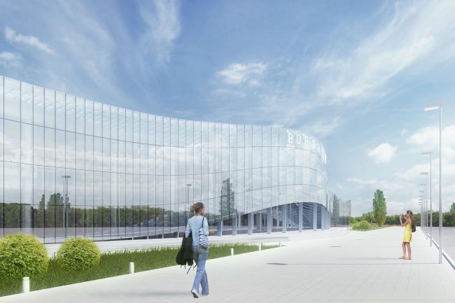 Проект реконструкции фасадов аэропорта города Воронеж © Arch group