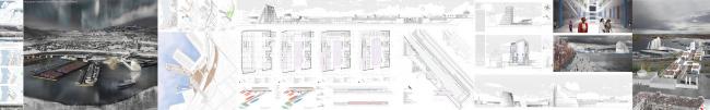 Международный морской терминал в Мурманске. Дипломная работа Ольги Кузнецовой, бакалавриат. Планшет. Москва, 2016