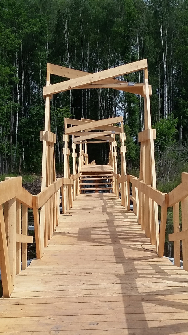 "The bridge at the ""Arkhstoyanie"" Festival 2016. Photo © Olga Grib"