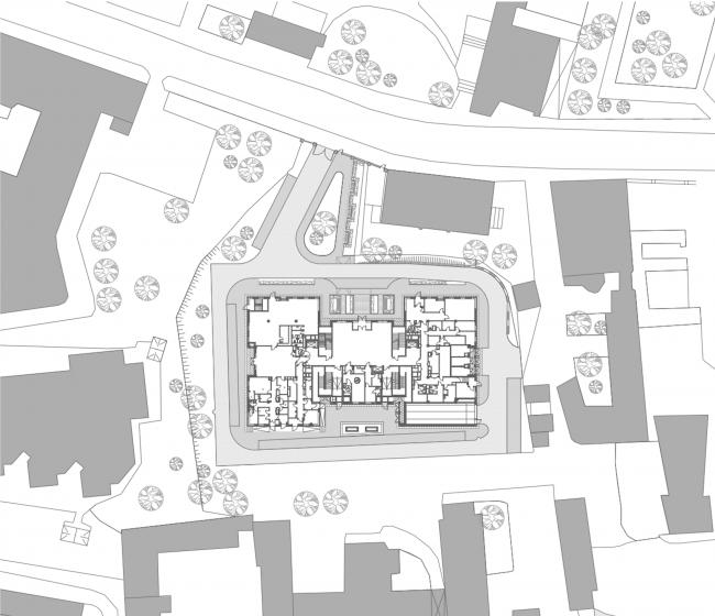 Административно-офисное здание в Гороховском переулке. Генеральный план, 2006 © ADM architects