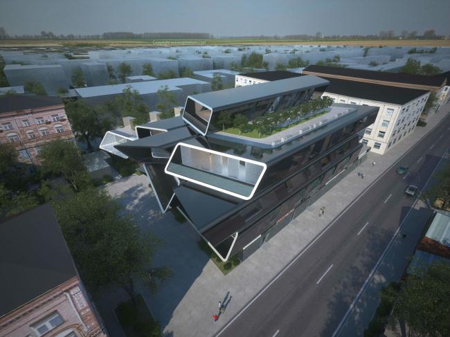 Концепция реконструкции здания на улице Малая Ордынка © Arch group