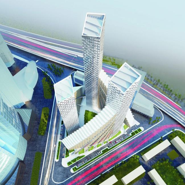 Конкурсный проект многофункционального комплекса в Москва-сити © Arch group
