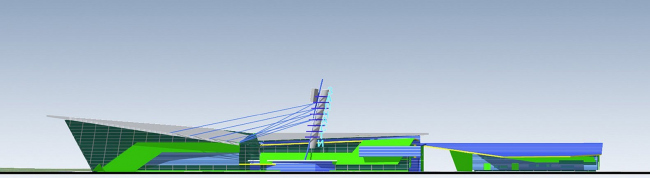 Торговый комплекс «Центр автозапчастей» © Архитектурное бюро Асадова