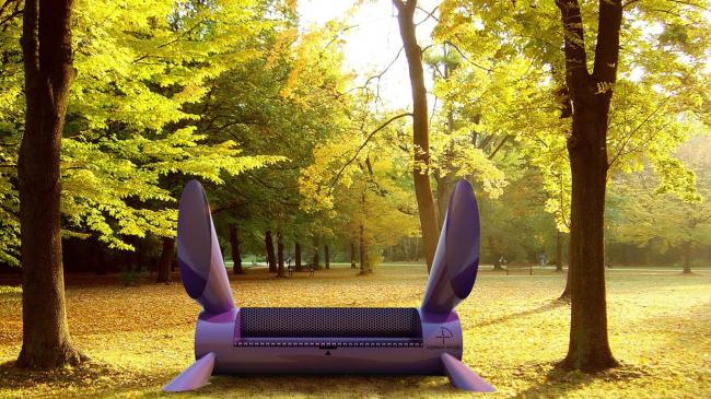 Всепогодная скамья «Зай» © Arch group