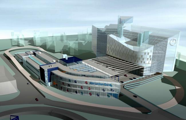 Торгово-сервисный центр «Авангард» компании «Мерседес-Бенц» © Архитектурное бюро Асадова